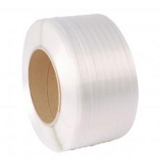 Banda de legat paleti din PES Compozit 13 mm, Diam. rola = 35 cm, Diam. tub carton = 20 cm,  Lungime 1100 m
