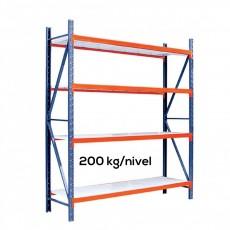Raft depozitare Profi cu polite metalice H:250xL:210xl:60 cm (Polite din tabla de 0,7 mm)