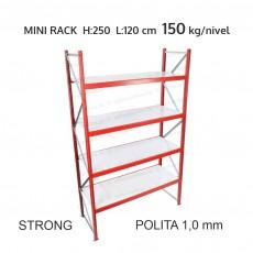 Raft metalic Mini Rack Strong pentru depozitare usoara H:250x120x60 cm (1,0 mm)