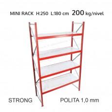 Raft metalic Mini Rack Strong pentru depozitare usoara H:250x180x60 cm (1,0 mm)