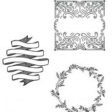"""Set 3 sabloane A2 """"Semne"""" pentru geamuri/vitrine (marker inclus)"""
