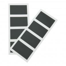 Set 8 etichete de scris autoadezive dreptunghiulare