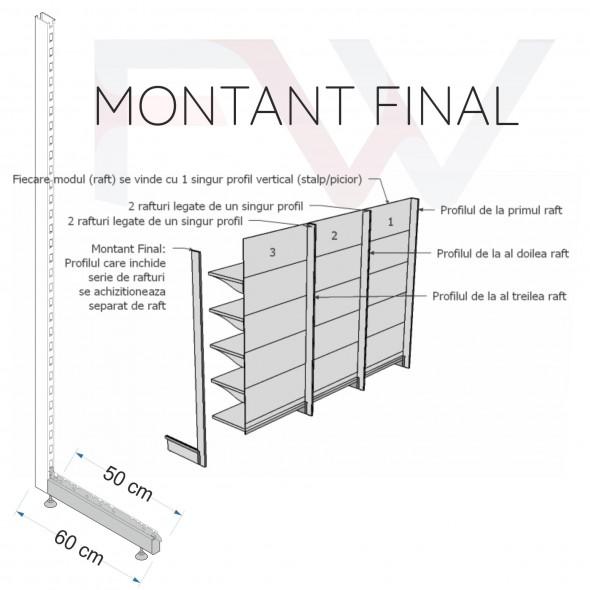Rafturi metalice modulare - Raft de perete 225*97*60 cm