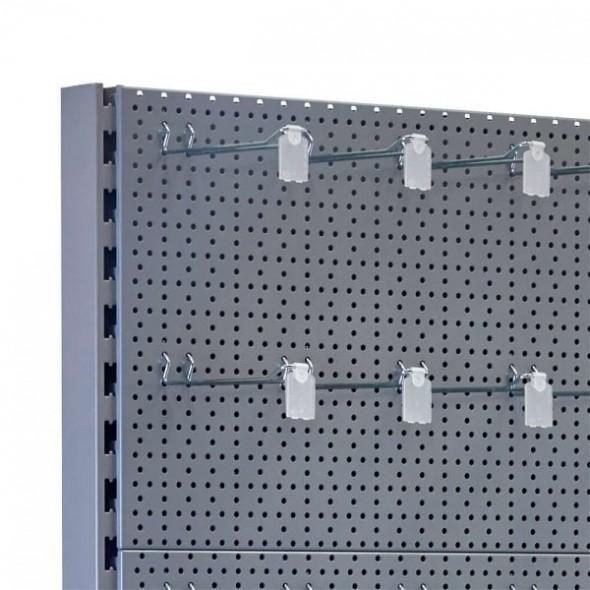 Rafturi metalice cu agățătoare - Raft perforat 225*65*60 cm
