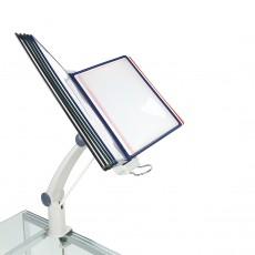 Display de prezentare rotativ-reglabil cu 10 rame A4