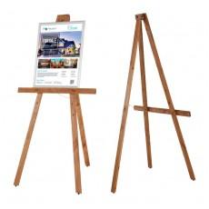 Sevalet Mobech din lemn de pin, pliabil, reglabil la inaltime, 159 cm
