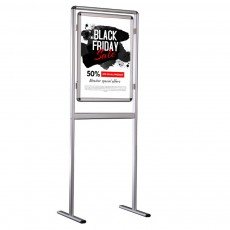 Stand informare A1, rama click 32 mm, folie protectie postere